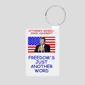 Bush-Ashcroft-Freedom-Post Aluminum Photo Keychain