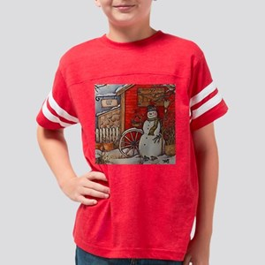 Snowman Scene Youth Football Shirt