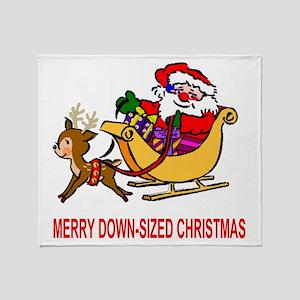 Bush-Down-sized-Christmas-Red Throw Blanket