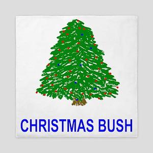 Bush-Christmas-Bush-Blue Queen Duvet