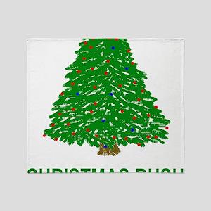 Bush-Christmas-Bush-Green Throw Blanket