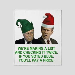 Bush-Making-A-List-3-Green Throw Blanket