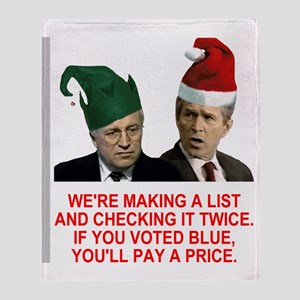Bush-Making-A-List-3-Red Throw Blanket