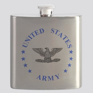 Army-Colonel-Blue Flask