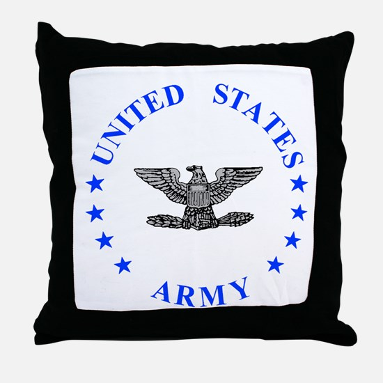 Army-Colonel-Blue.gif Throw Pillow