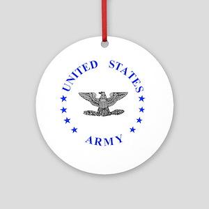 Army-Colonel-Blue Round Ornament