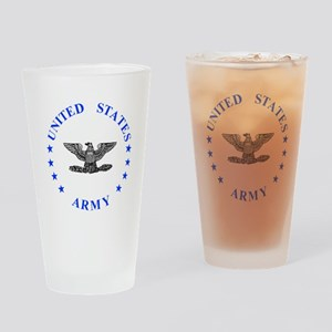 Army-Colonel-Blue Drinking Glass