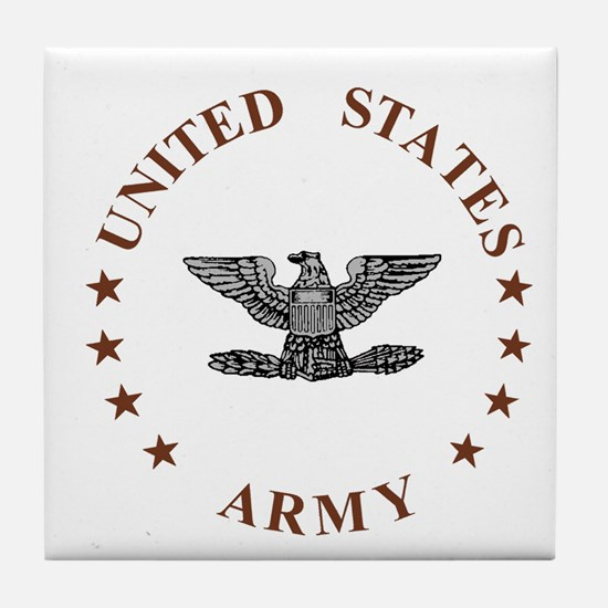 Army-Colonel-Brown.gif Tile Coaster