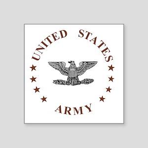 """Army-Colonel-Brown Square Sticker 3"""" x 3"""""""