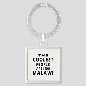 The Coolest Malawi Designs Square Keychain