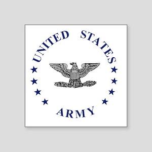 """Army-Colonel-Blue-2 Square Sticker 3"""" x 3"""""""