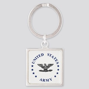 Army-Colonel-Blue-2 Square Keychain