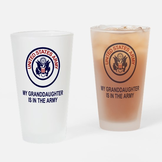 Army-My-Granddaughter.gif Drinking Glass