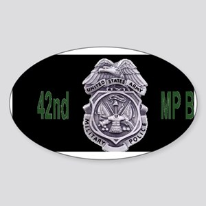 Army-42nd-MP-Bde-Cap3 Sticker (Oval)