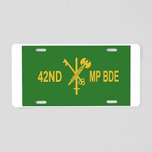 Army-42nd-MP-Bde-Black-Cap- Aluminum License Plate