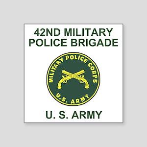 "Army-42nd-MP-Bde-Shirt-2.gi Square Sticker 3"" x 3"""
