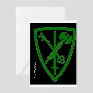 Army-42nd-MP-BdeBonnie-Yellow Greeting Card