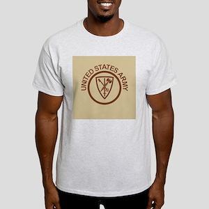Army-42nd-MP-Bde-Button-Khaki Light T-Shirt