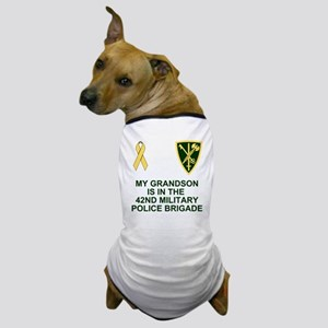 Army-42nd-MP-Bde-My-Grandson Dog T-Shirt