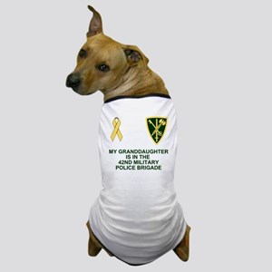 Army-42nd-MP-Bde-My-Granddaughter Dog T-Shirt
