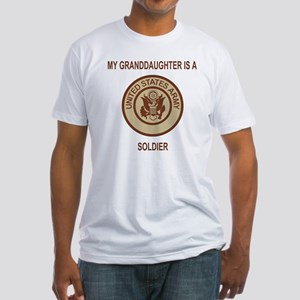 Army-My-Grandaughter-Khaki Fitted T-Shirt