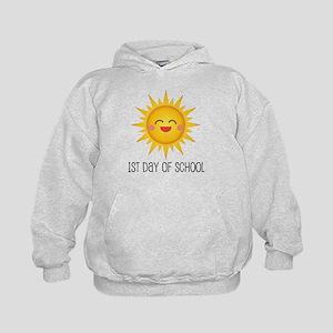 1st Day Of School sun Kids Hoodie