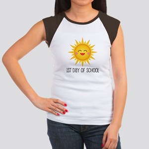 1st Day Of School sun Women's Cap Sleeve T-Shirt