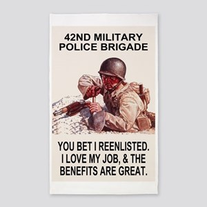 Army-42nd-MP-Bde-You-Bet-Poster 3'x5' Area Rug