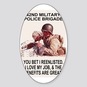 Army-42nd-MP-Bde-You-Bet-Poster Sticker (Oval)