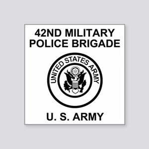"""Army-42nd-MP-Bde-Green-Back Square Sticker 3"""" x 3"""""""
