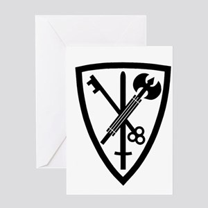 Army-42nd-MP-Bde-Green-Front Greeting Card