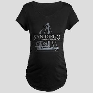San Diego - Maternity Dark T-Shirt