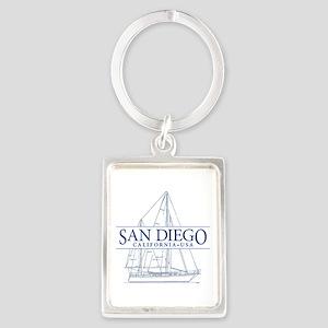 San Diego - Portrait Keychain