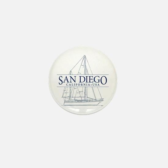 San Diego - Mini Button