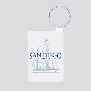 San Diego - Aluminum Photo Keychain
