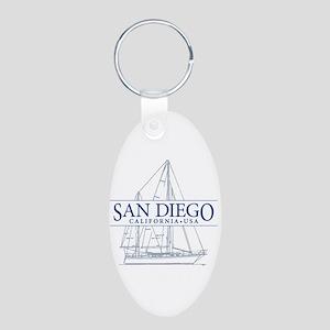 San Diego - Aluminum Oval Keychain