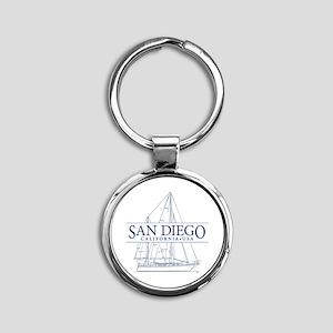 San Diego - Round Keychain