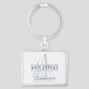 San Diego - Landscape Keychain