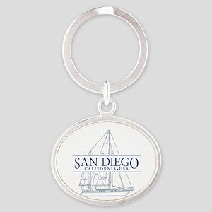 San Diego - Oval Keychain