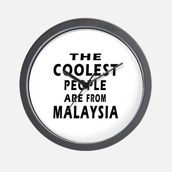 The Coolest Malaysia Designs Wall Clock