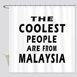 The Coolest Malaysia Designs Shower Curtain
