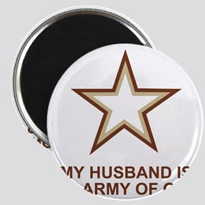 Army-Of-One-My-Husband-Two Magnet