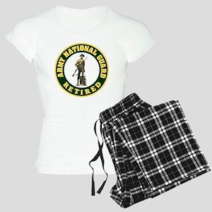 ARNG-Retired-Logo-For-Strip Women's Light Pajamas