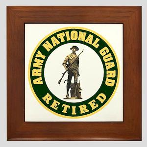 ARNG-Retired-Logo-For-Stripes Framed Tile