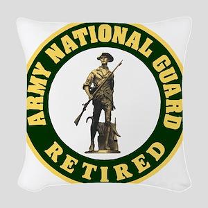 ARNG-Retired-Logo-For-Stripes. Woven Throw Pillow