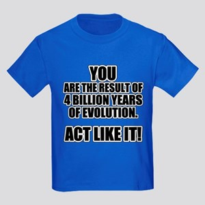 4 Billion Years of Evolution Kids Dark T-Shirt