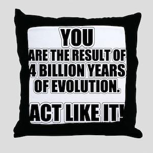 4 Billion Years of Evolution Throw Pillow