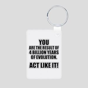 4 Billion Years of Evolution Aluminum Photo Keycha
