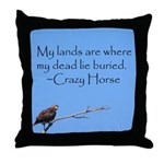 Crazy Horse Quote Throw Pillow