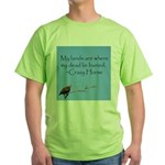 Crazy Horse Quote Green T-Shirt